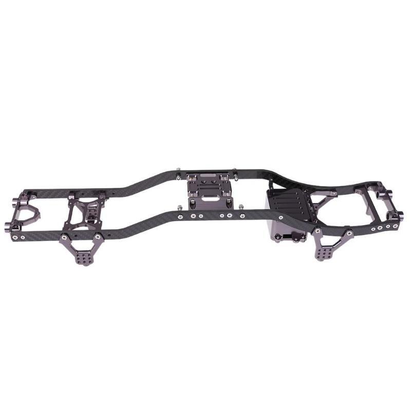 3K RC Car Frame Carbon Fiber Metal Casting Chassis Beam Rock Crawler Car Frame for RC Axial Scx10 tator rc 3k carbon fiber plate 3 5mm tl2900