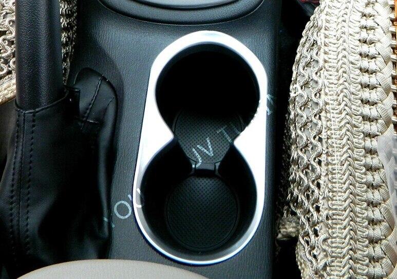 ABS Хромированная накладка автомобильный держатель стакана воды украшения коробка кольцо света барные аксессуары подходят для Mazda CX-5 CX5 2012- 1 шт.; комплект из двух предметов