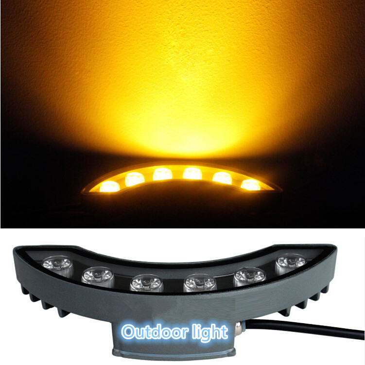 Free Shipping 12W Warm White/Cool White/Red/Yellow/Green LED moon light waterproof outdoor landscape chandeliers AC85-265V
