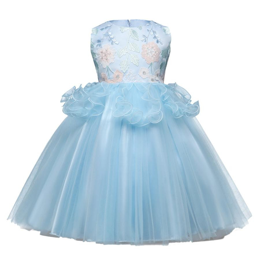 MUQGEW Summer childrens clothing Kids Baby Girls sleeveless Floral Print Bowknot Lace Princess Formal Dresses Kids clothes