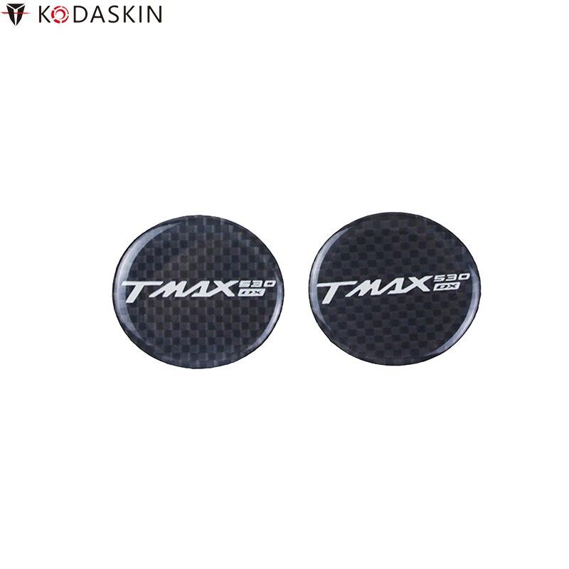 KODASKIN Motorcycle Stickers Carbon Black 3D Decals Logos Emblems Decoration For YAMAHA TMAX 530 DX