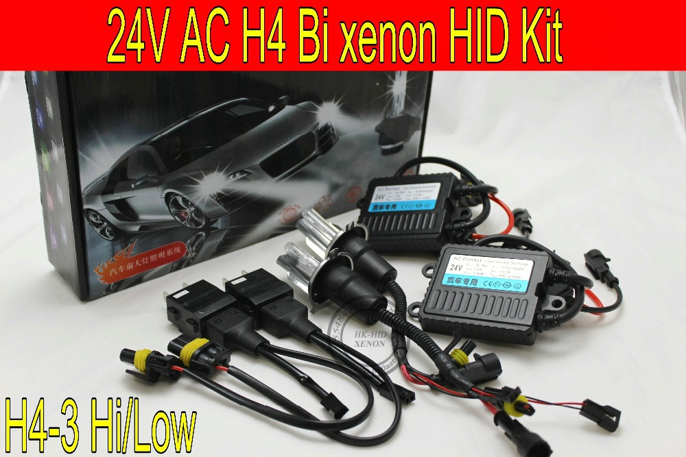 Livraison gratuite 24 V, 35 W, ballast, ampoule 55 W, H4H/L haut bas Bi xenon HID kit de phares, 3000 k, 4300 k, 6000 k, 8000 k, 10000 k, k, k, camion et ainsi de suite