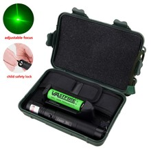 High Power Hunting laser dot sight Burning Focus 532nm Green Laser Pointer Pen+18650 Battery+Charger+Safe Key+Case+Cloth Cover 500mw 532nm handheld green laser with 5 laser heads 1pc laser glasses 2pcs16340 battery1 pc battery charger and 1 aliminium case