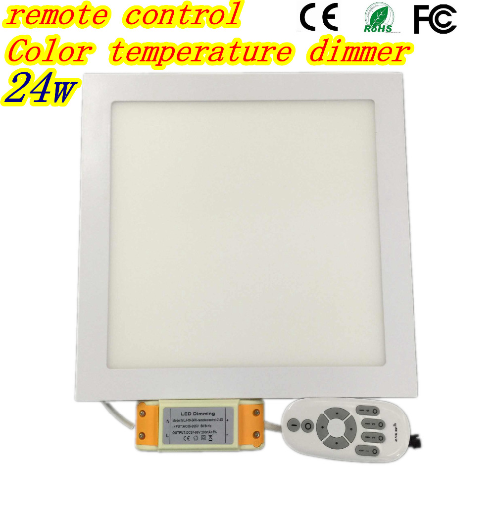 LED 2.4G panel light dimmer color temperature of 3000K 4500K 6500K can be freely adapted square thin panel light 24W by DHL Free цены онлайн