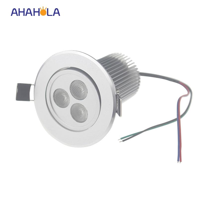 foco led techo rgb spot led donlights light surface mount 12v 9w led ceiling light lamps