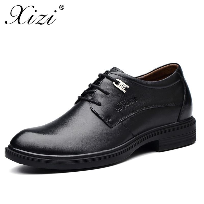 2018 Couro Do Apontado Negócios Casamento Genuíno 100 Preto Dedo Vestido Homens Pé Xizi Oxford Sapato Moda Para De Formais Marca marrom Apartamentos Dos Sapatos TnwOTqxdv