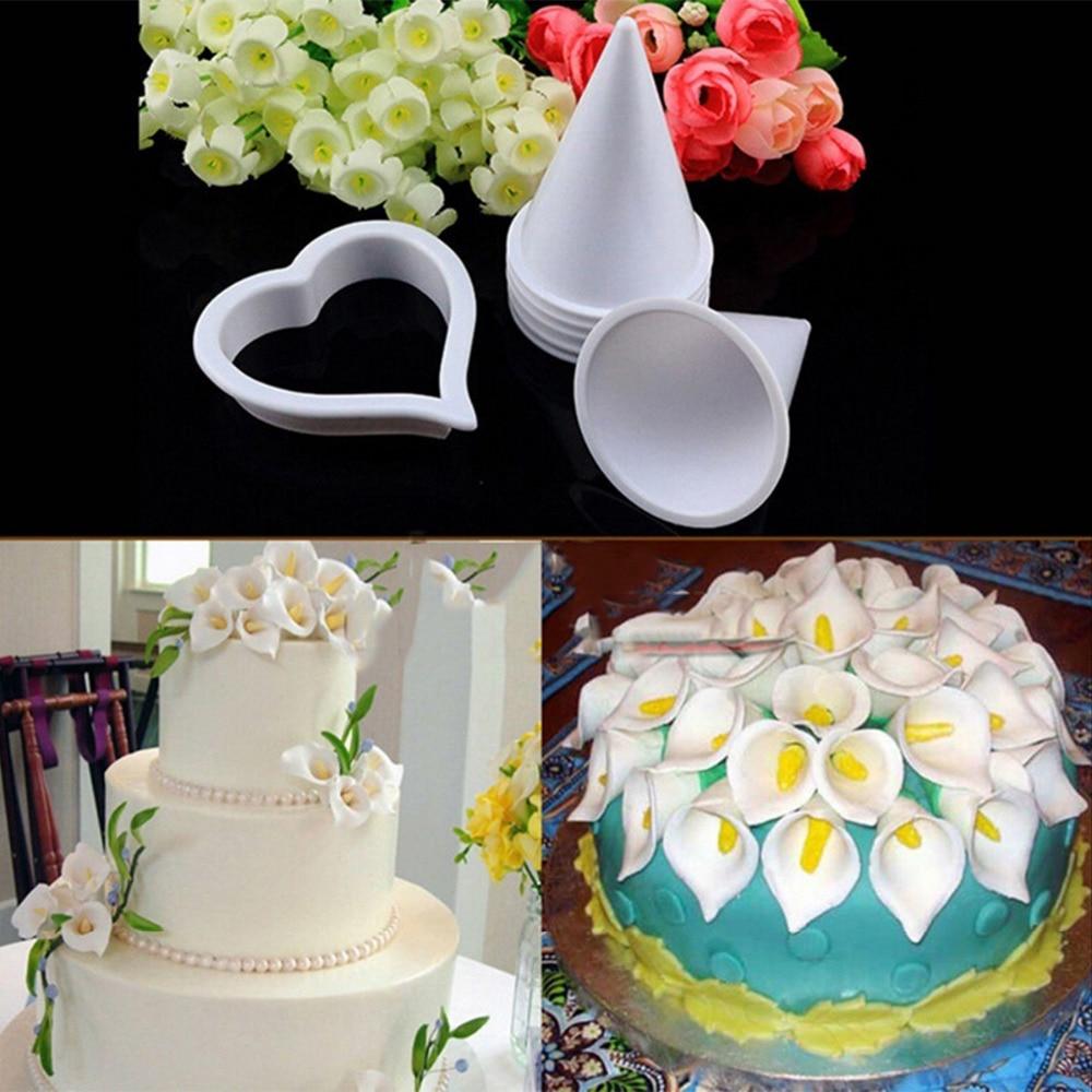 Hause kuchen dekorieren tool zucker fondant gum paste calla lilie blume scherblock form in hause - Kuchen dekorieren ...