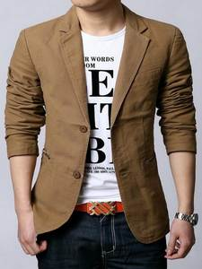 Suit MEN Coat Blazers Fitted Masculino Leisure Male Single-Breasted Men's Plus-Size New