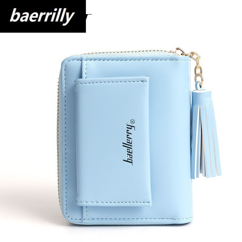 2018 New Luxury Soft Leather Women Hasp Wallet Fashion Tri-Folds Clutch For Girls Coin Purse Card Holders Female Blue Money Bag 2017 purse wallet big capacity female famous brand card holders cellphone pocket gifts for women money bag clutch passport bags