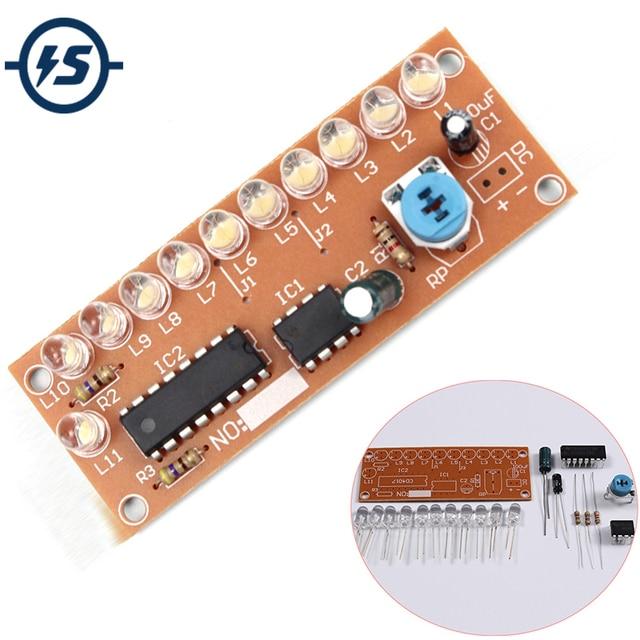 NE555 CD4017 Light Water Flowing Light LED Module DIY Electronic Marquee Light DIY Kit White Running Flow LED Electronic DIY Kit