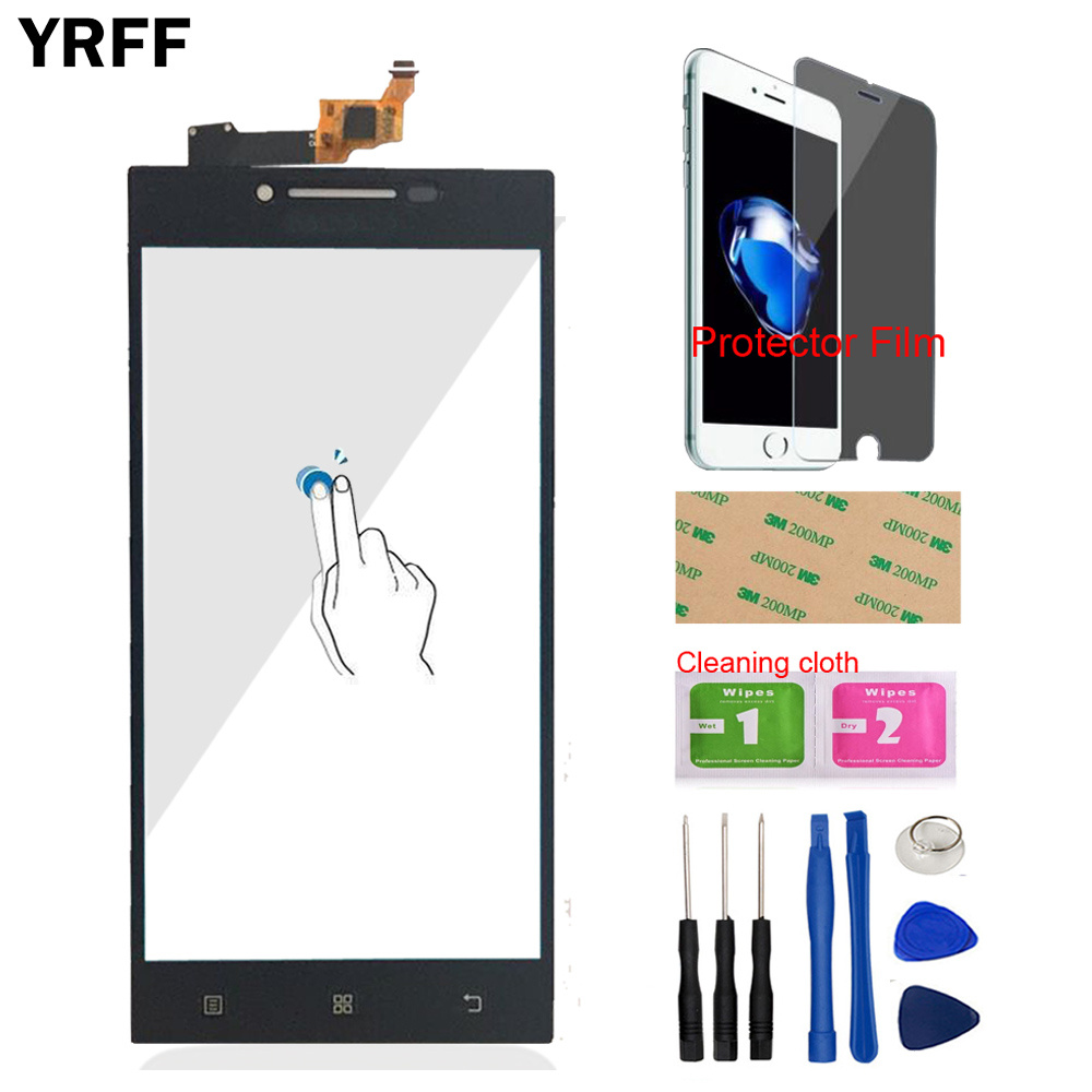YRFF 5.0 For Lenovo P70 P 70 Touch Digitizer Screen Front Glass Phone Part Smartphone Panel Repair Tools Protector Film Adhesive-in Mobile Phone Touch Panel from Cellphones & Telecommunications