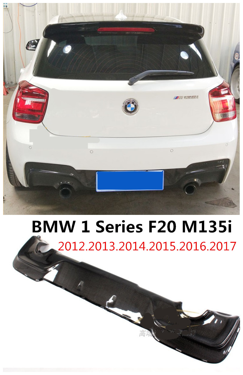 For BMW 1 Series F20 M135i 2012.2013.14.15.2016.2017 Carbon Fiber Rear Lip Spoiler Bumper Diffuser High Quality Car Modification
