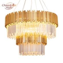 hot deal buy modern luxury golden chandeliers hanging light crystal chandelier lighting fixture for home hotel restaurant ktv decor