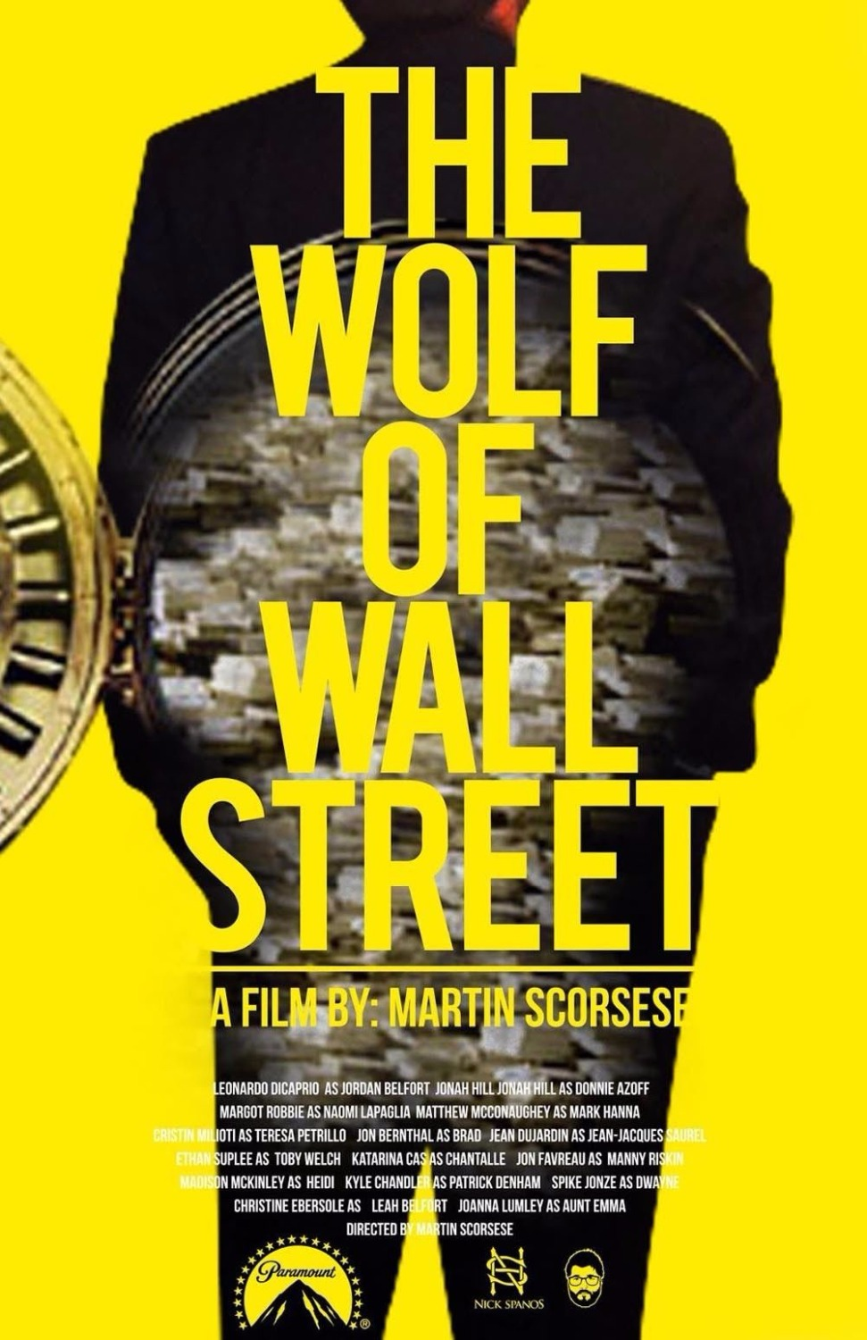 1892 The Wolf Of Wall Street Classic Movie Wall Sticker Art Poster ...