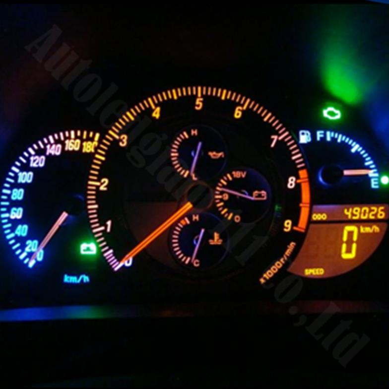 10X T5 37 58 70 73 74 Car Auto Dashboard Gauge 1 LED Wedge Side Light Bulb Lamp