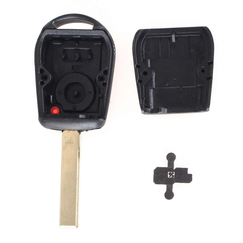 KEYYOU 2 кнопки Автомобильный ключ чехол Корпус пустой корпус для дистанционного ключа замена для BMW E38 E39 E36 Z3