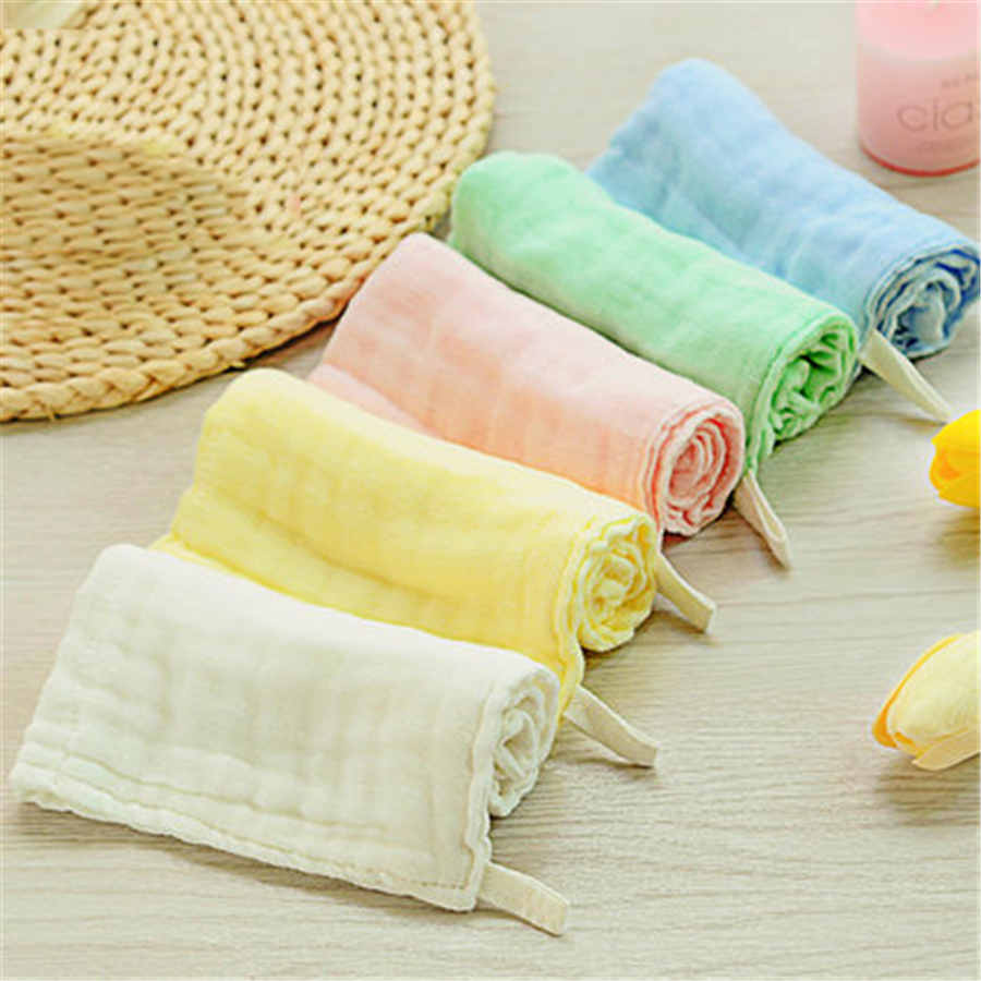 Muslin Cotton Newborn Baby Towels Bathing Luxury White Gauze Solid Wipes Absorbent Cozy Baby Towel Cotton Cute 70A0080