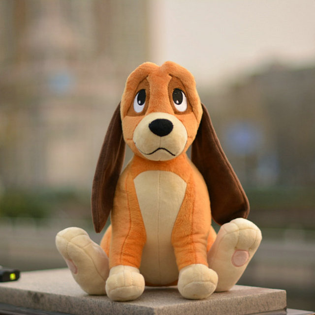 New The Fox And The Hound Copper Dog Plush For Girls Boys 33cm Kids