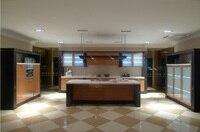 High gloss/lacquer kitchen cabinet mordern(LH-LA030)