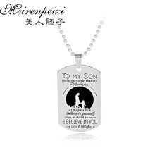 To My Son I Hope You Believe In Yourself As Much Love Mom Pendant Family Necklace Jewelry Graduation Gift