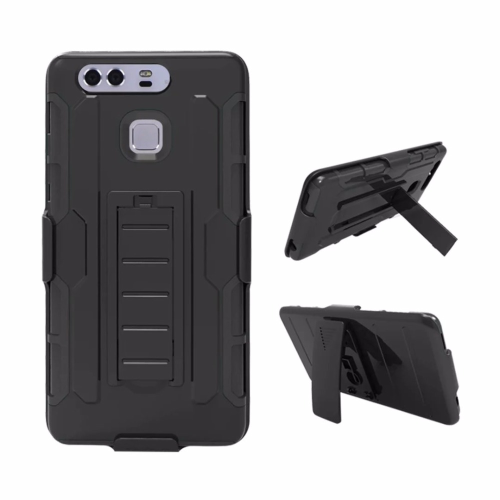 For Huawei P9 Belt Clip Cover Case Future Soldier Kickstand Hybrid Slim Shockproof Back Case for Huawei P9 Lite