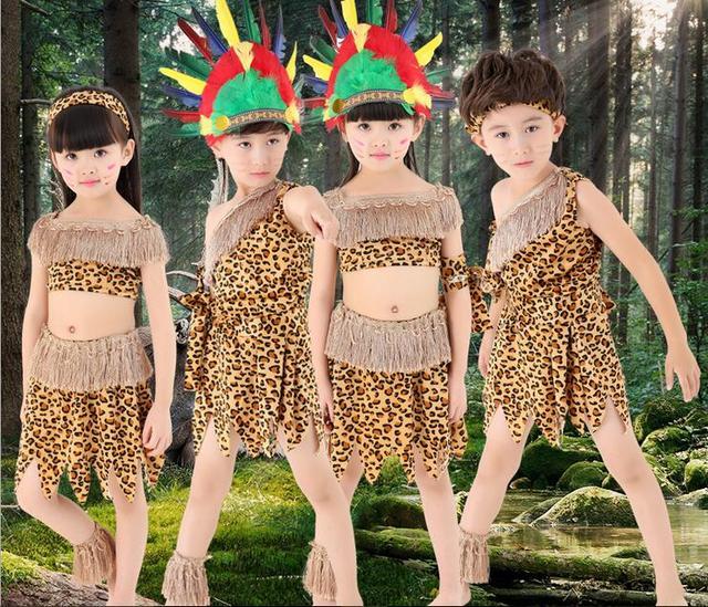 f89113393 Indian Wild West Western Children Girls Boys Fancy Dress Costume Native  Childs