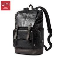 UIYI Fashion Men Backpack Mens Leather Bag Men Travel Backpack School Bag Famous Besigner Brands High