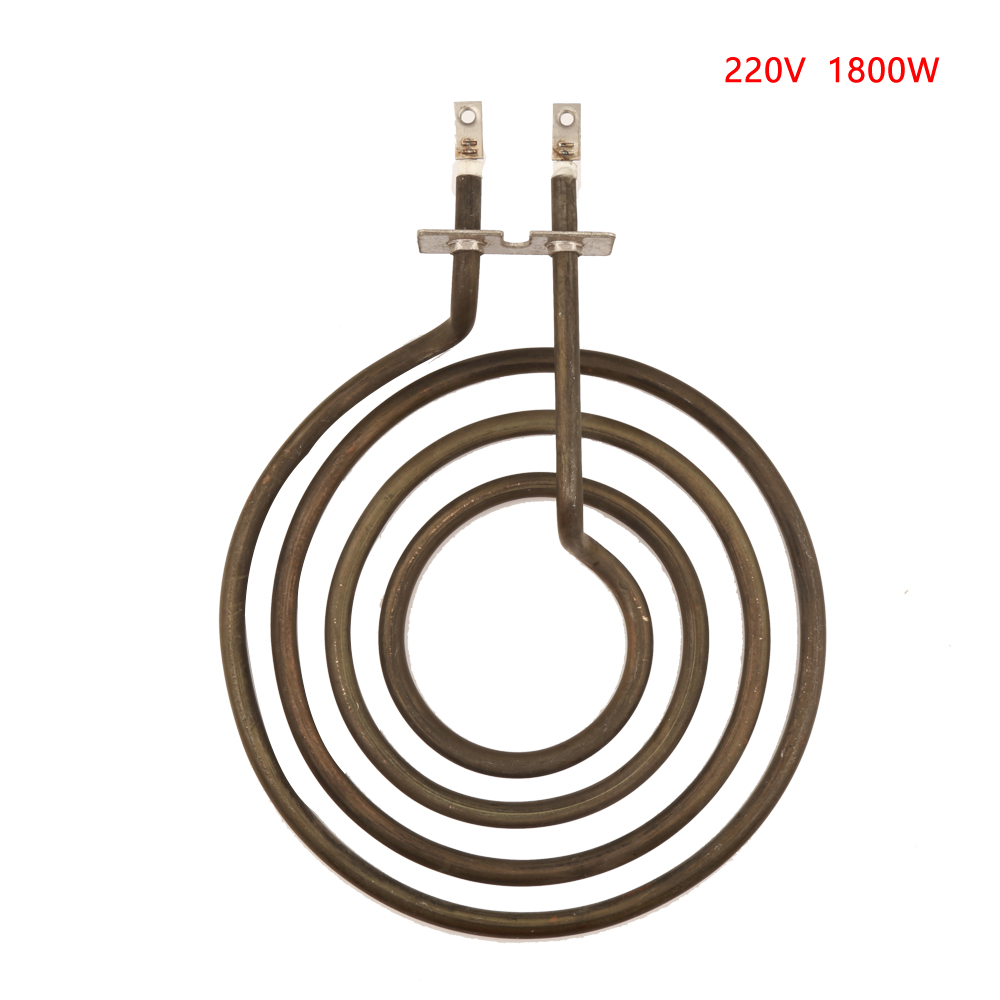 1800W 220V Pancake Coil Shape Heater Tube For Stove Surface Burner, 4-ring Electric Heating Element
