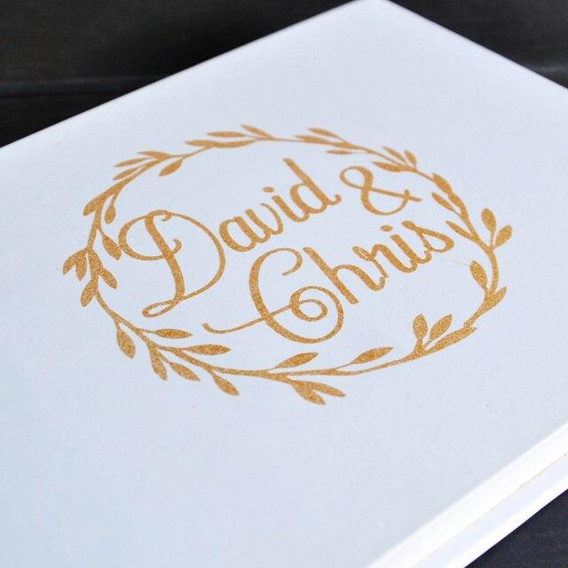 Aliexpress  Buy Rustic White Wedding Guestbook Custom Names