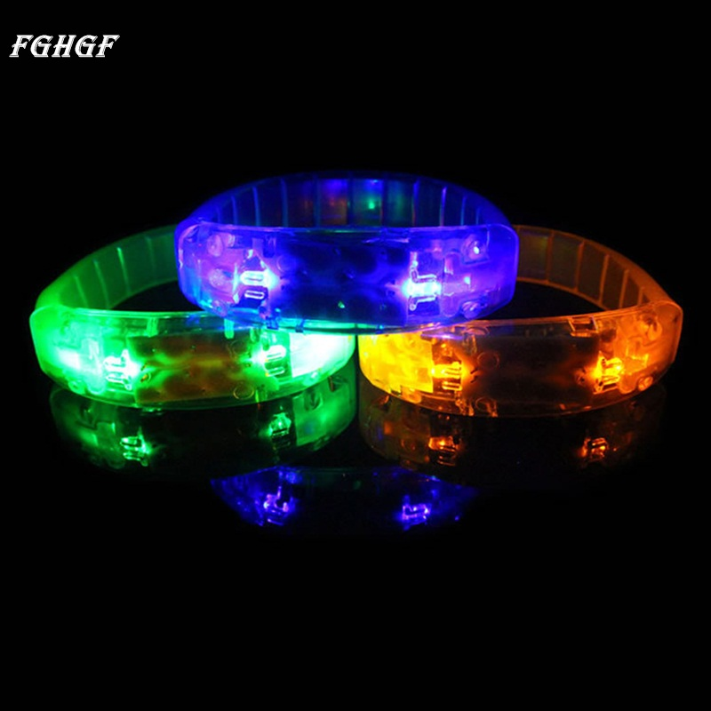 fghgf party concert voice control led light bracelet bangle sound activated glows halloween party bar music - Online Halloween Music