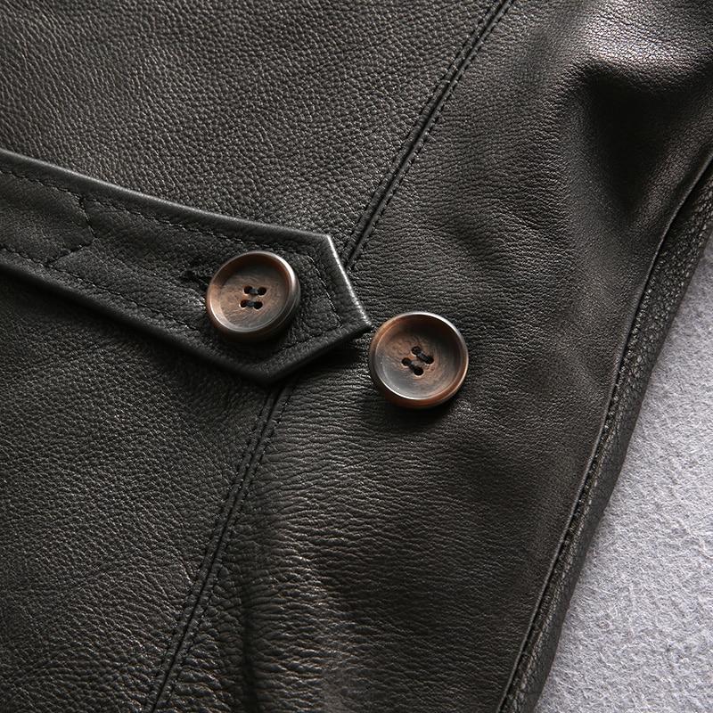 genuine cow skin leather jacket mens vintage cowhide leather jacket