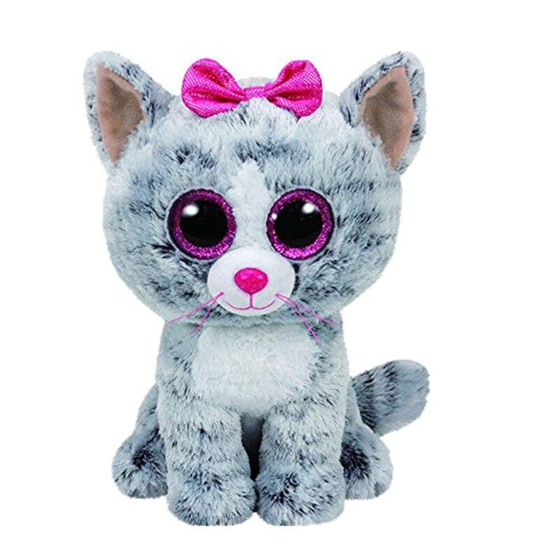 217dc60441c Ty Beanie Boos Big Eyed Sophie Pink Polka Dot Cat Plush 15CM Kids ...