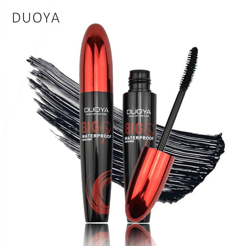 DUOYA Eyes Makeup Természetes szempillaspirál ecset, amely megnöveli a nagy szemeket, mint háromszoros Magic Eye szempilla hosszú élettartamú kozmetikai