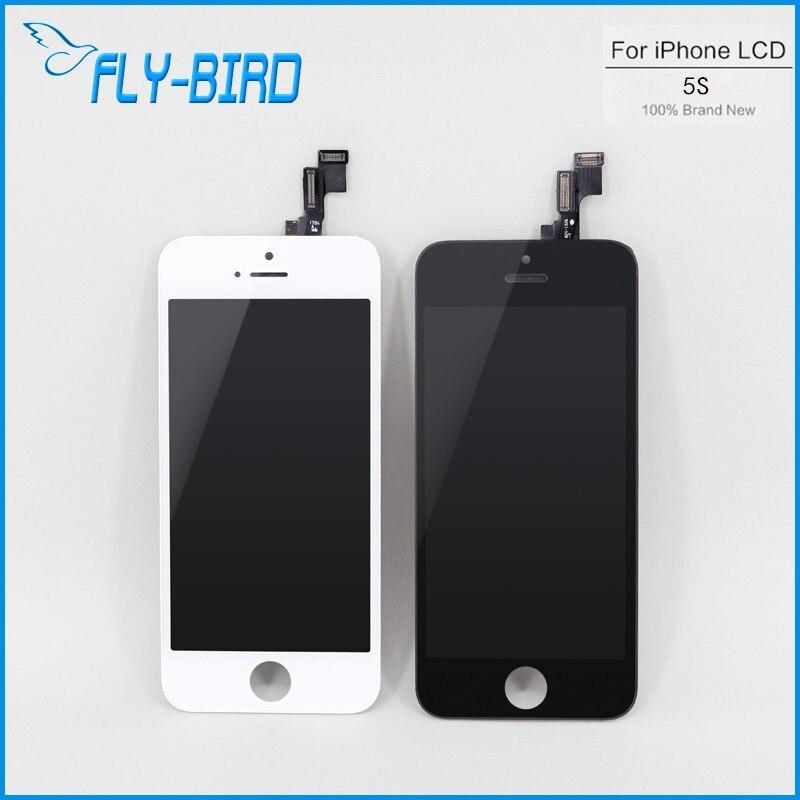 imágenes para 10 UNIDS/LOTE AA 5S LCD Marco de la Exhibición Del Lcd Para el iphone Reemplazo de la Pantalla Táctil Digitalizador 100% Probado Envío Gratis