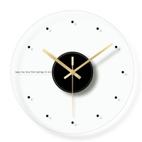 Roman Number Decorative Wall Clock Modern Design Glass Digital Clocks for Kitchen Mute Simple Circular Hanging Clock Home Decor