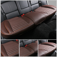 Leather Anti slip 3D Car Seat Cover Back Rear Backseat Protector Cushion Universal Fit Most Auto Interior Decoration Accessories