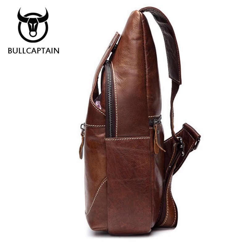 BULL CAPTAIN 2018 Модные Сумки из натуральной кожи через плечо мужские повседневные сумки через плечо Маленькая брендовая дизайнерская мужская сумка BU001