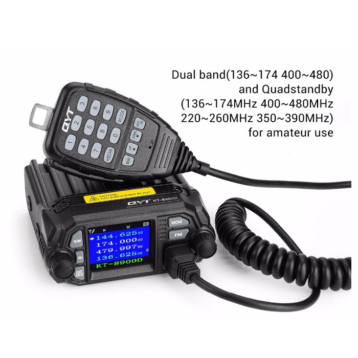 Image 4 - 100% Original QYT KT 8900D Dual Band Quad Vehicle Car Radio 136 174/400 480MHz Mobile Radio Transceiver Vehicle Muted-in Walkie Talkie from Cellphones & Telecommunications