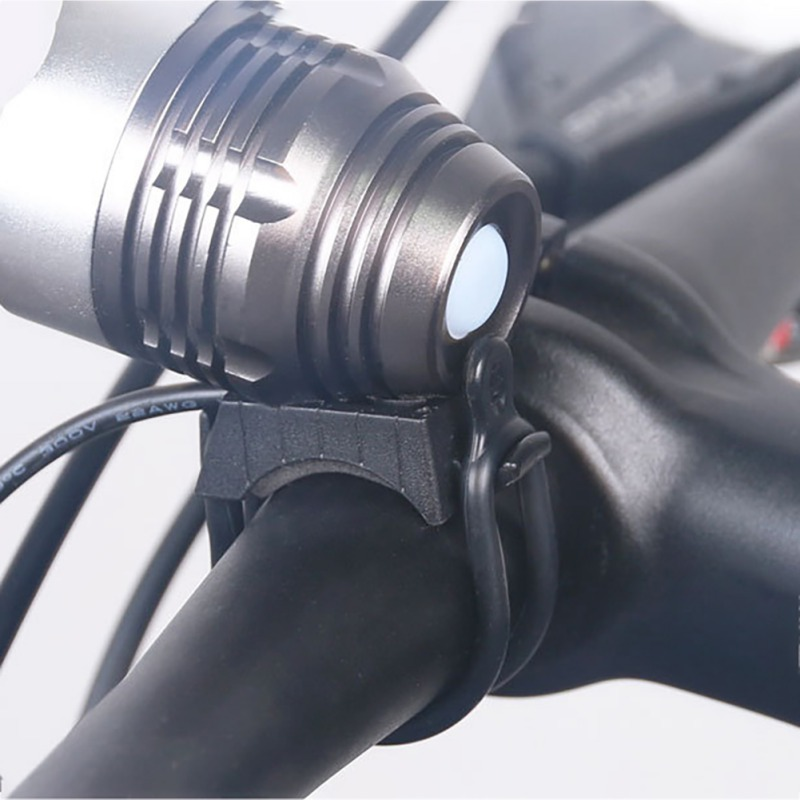 Easy Tie On Silicone Band For Bike Lights /& Accessories Mobile Drink Cage Holder