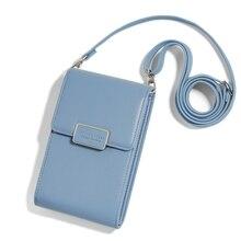 Mulher de luxo caso saco do telefone móvel meninas mensageiro couro do plutônio mini crossbody saco carteira capa feminina bolsa para iphone 11 pro max