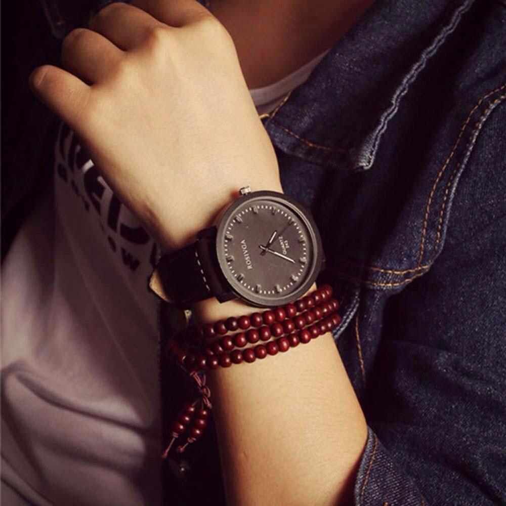 2015 Fashion Women Watches Lover Men Leather Band Quartz Analog Wrist Watch B fabulous 2016 quicksand pattern leather band analog quartz vogue wrist watches 11 23