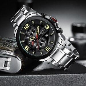 Image 2 - NIBOSI hommes montre Reloj Hombre 2018 hommes montres haut marque de luxe montre à Quartz grand cadran Sport étanche Relogio Masculino Saat