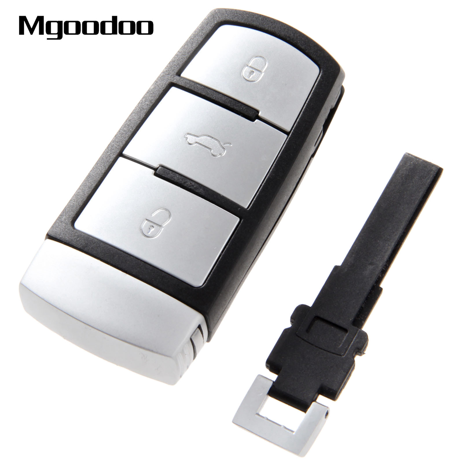 2002 Volkswagen Jetta Key: Mgoodoo 3 Buttons Smart Remote Key Fob Case For VW