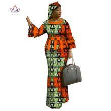 アフリカスカート女性 o WY1096 ネックアフリカプリント服女性のコットンスカートセットフルスリーブアフリカ服、伝統的な