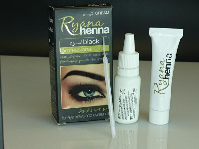 Ryana Henna Natural Eyebrow Eyelash Professional Color Tint Cream Kit, 15-minute Fast Tint Brown & Black Available easy dye