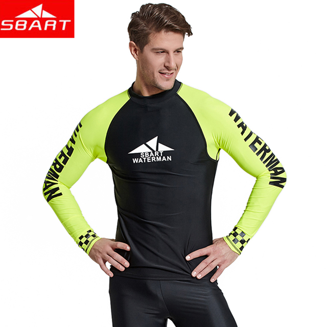 e43f33d0e0005c 2019 New Real Sbart Long Sleeve Men Sunscreen Surf Clothing Outdoor  Snorkeling Male Sun Jellyfish Swimsuit Rash Guards Surfing