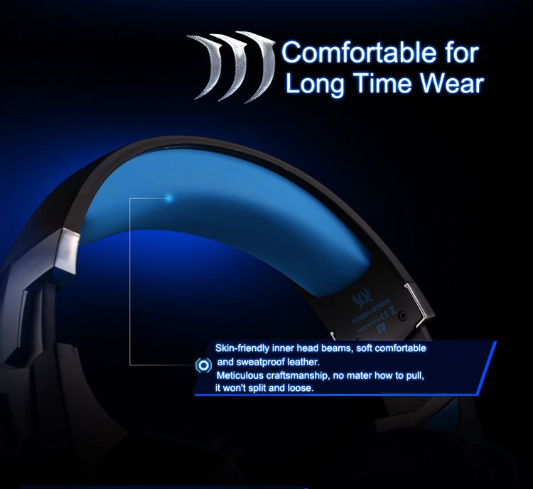 EACH G2000 Over-ear Gaming Headphone Headset Earphone With Mic Stereo Surrounded Bass LED Light For PC Game (7)