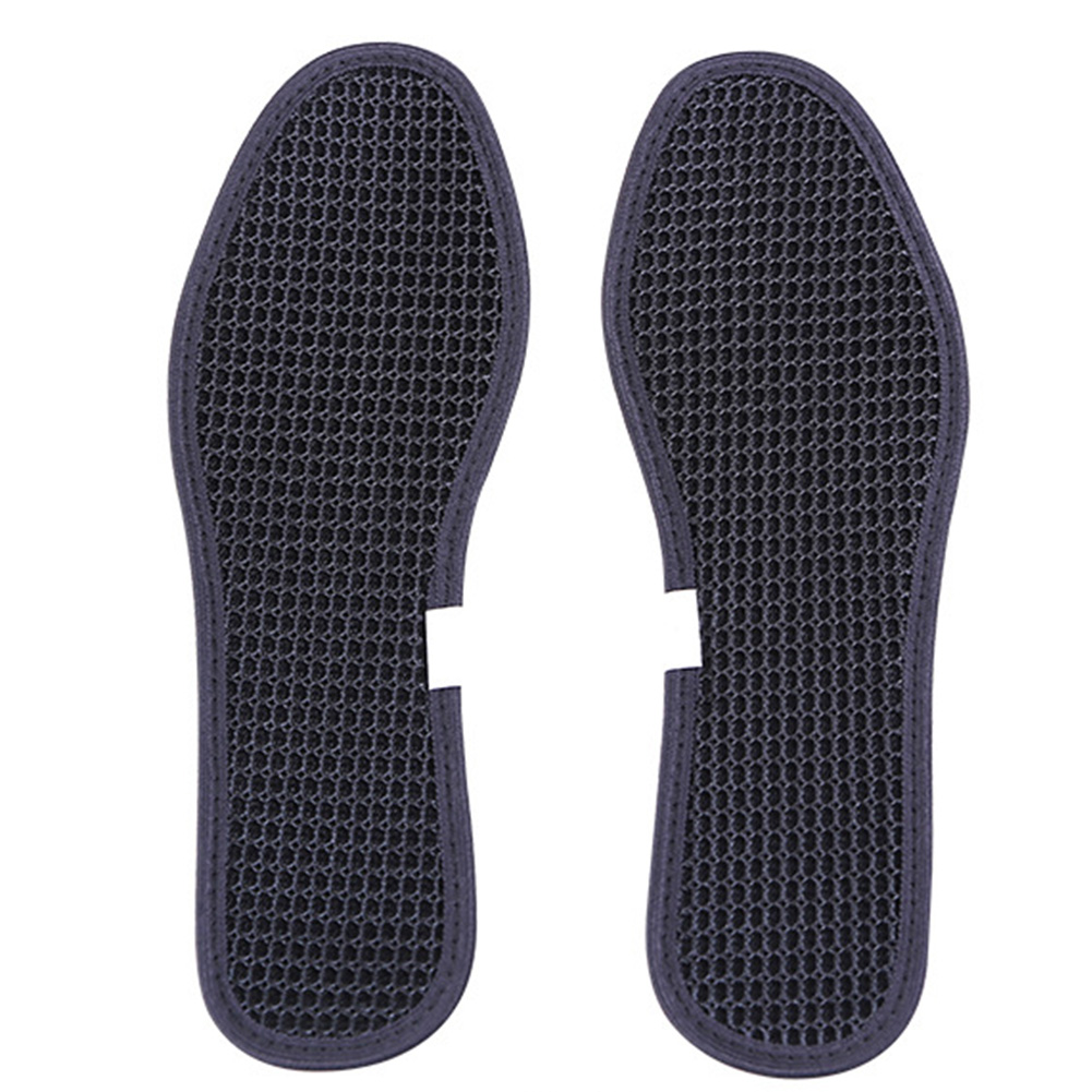 Bamboo Charcoal Insoles Outdoor Foot Dry Deodorant Care Hiking Antibacterial Cushion Unisex Sports Shoe Pads Ice Silk Breathable
