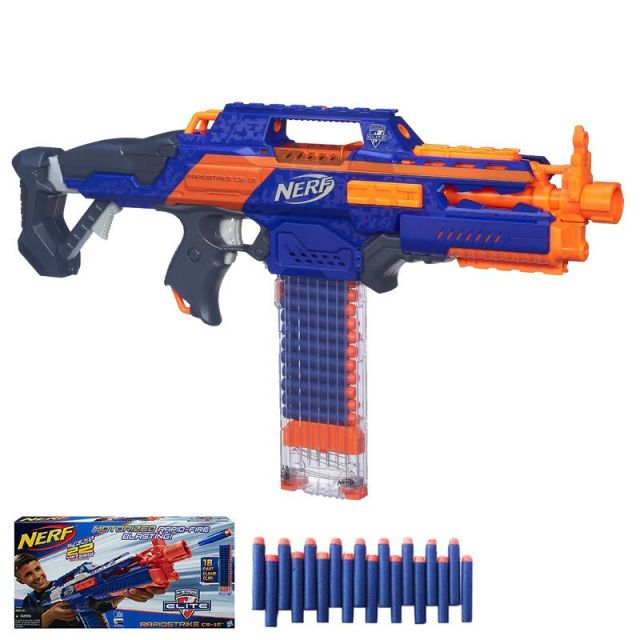 Licensed Nerf Gun Elite Rapidstrike Blaster With 18 Darts Bullet Pistol  Kids Toys For Children