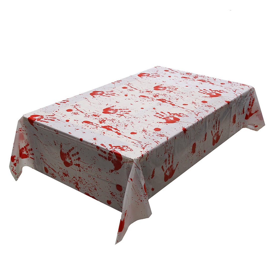 1pc Halloween Tablecloth Blood Halloween Party Hand Print Horror Table Cloth  PVC Home Tablecloth Home Decorative Table Cloth